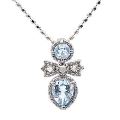 アクアマリン ダイヤモンド ペンダント