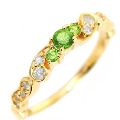 ロシア産デマントイドガーネット×ダイヤモンドリング「フルエンテ」※