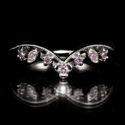 ピンクダイヤモンドリング「フィオレロ」