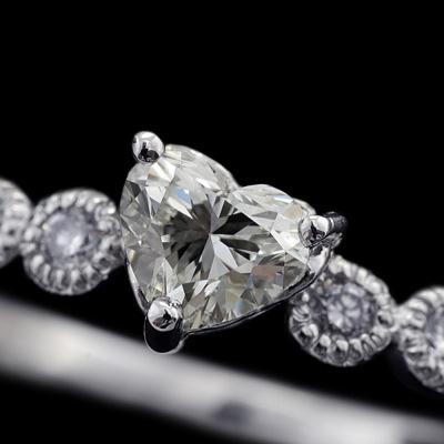 ハートシェイプダイヤモンド×ダイヤモンドリング「ミル」