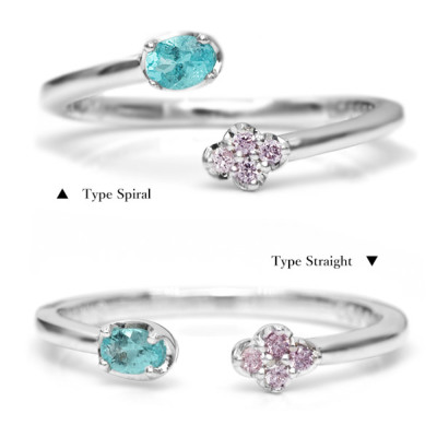 ピンクダイヤモンド×パライバトルマリン ピンキーリング Fusion  フュージョン<融合>