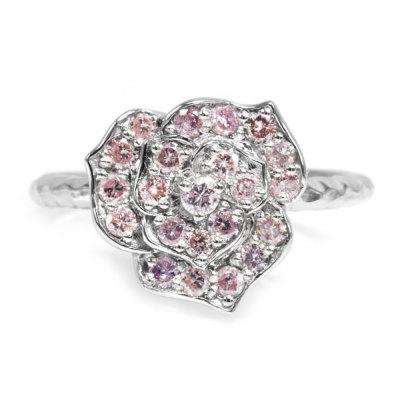 「ピンクローズ」PinkRose ピンクダイヤモンドリング