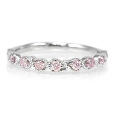 ピンクダイヤリング「ドロップライン」
