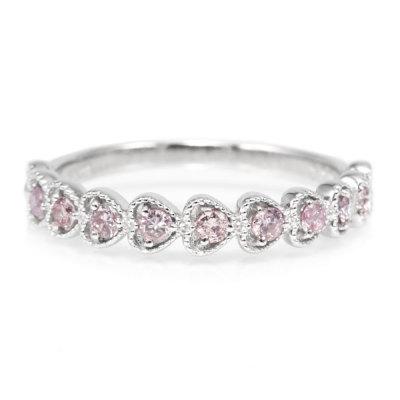「シンプルハート」 ピンクダイヤモンドリング